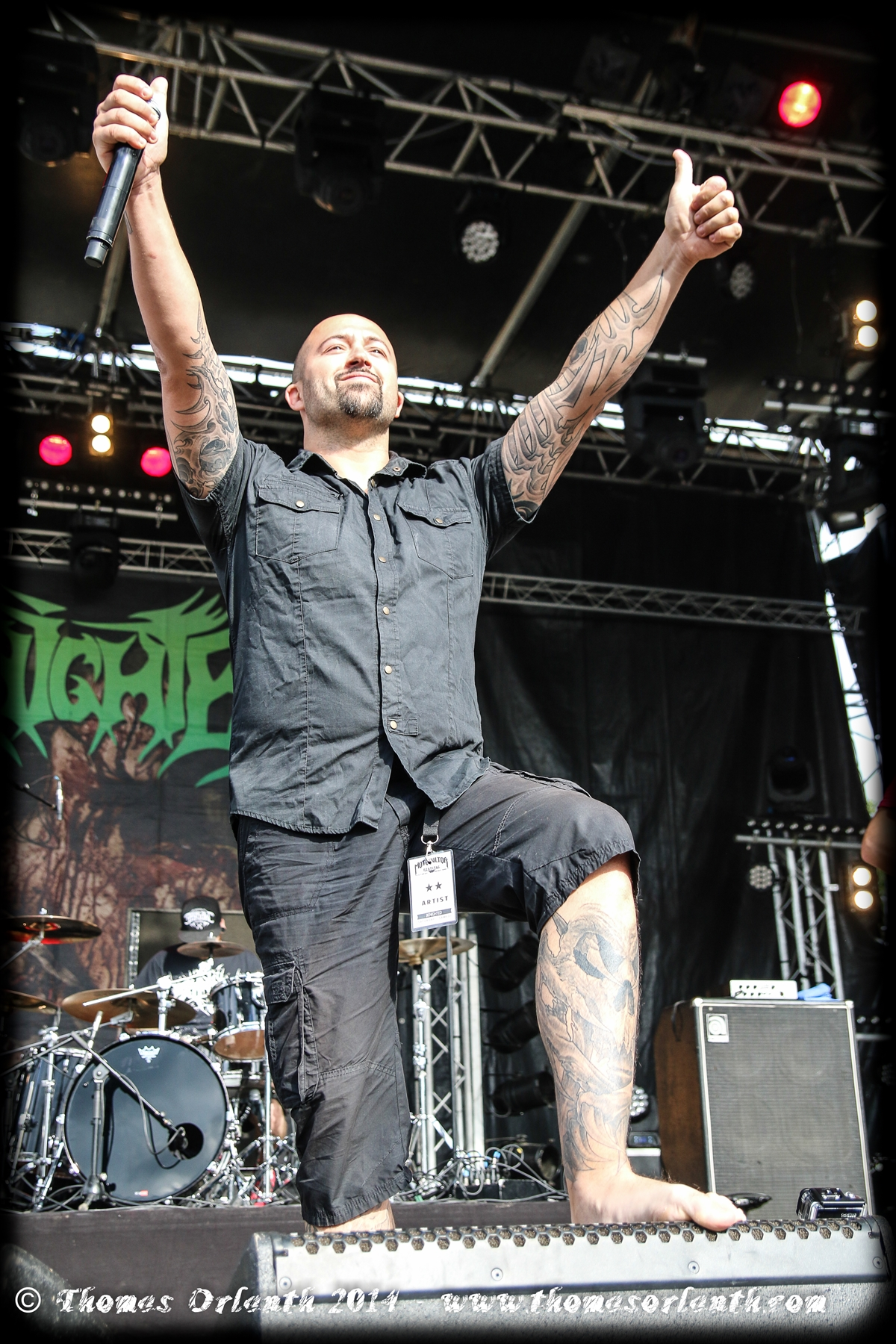 Benighted au Motocultor 2014